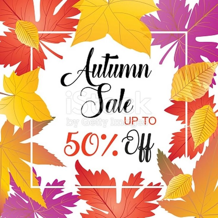 Autumn Sale poster. Fall Sale discount banner. Vector illustration....