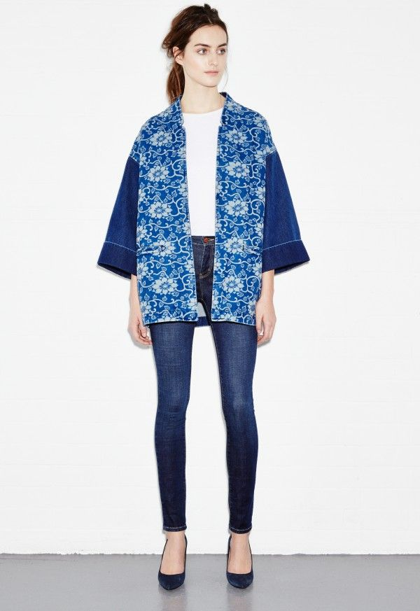 Denim Kimono - Chinois print jacket - Chinois Wash - MiH