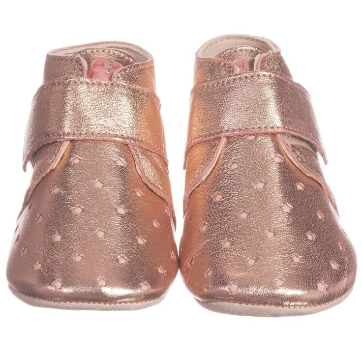 Easy Peasy - Pink Metallic Leather 'Kiny' Pre-Walker Shoes | Childrensalon