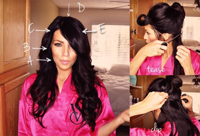 Sexy hair tutorial with extensions