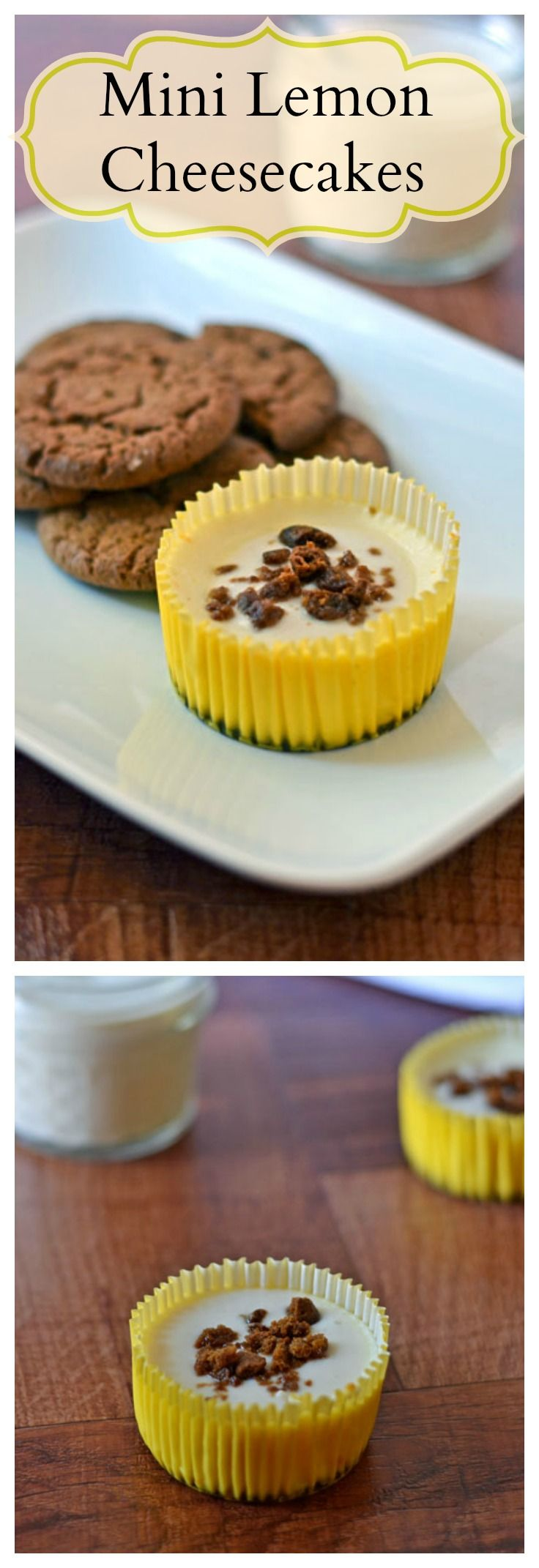 Mini Lemon Cheesecakes with Gingersnap Crust from Well Plated by Erin