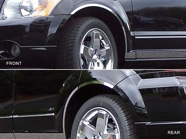CALIBER 2007-2012 DODGE (6 piece stainless steel wheel Well trim kit: includes 3M adhesive backing and gasket edging) WQ47950