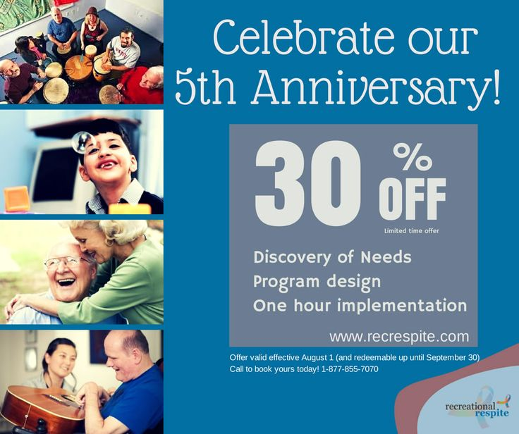 'Celebrate with us' Special Offer!! https://www.facebook.com/recreationalrespite?ref=hl