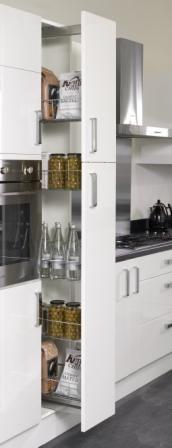 Four Seasons kitchen storage solutions - 300mm larder pull out kitchen unit