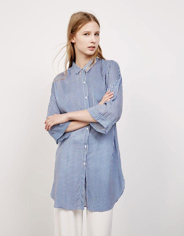 Camisa estampada rayas - Camisas - Bershka España