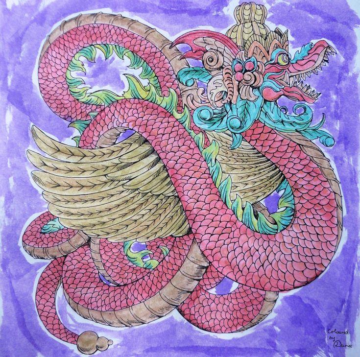 Nicholas F. Chandrawienata - Fantasia Dragon Coloured with Derwent AcademyAq., Derwent Metallic Aq