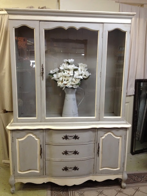 Hutch Makeover Chalk Paint Paris Grey