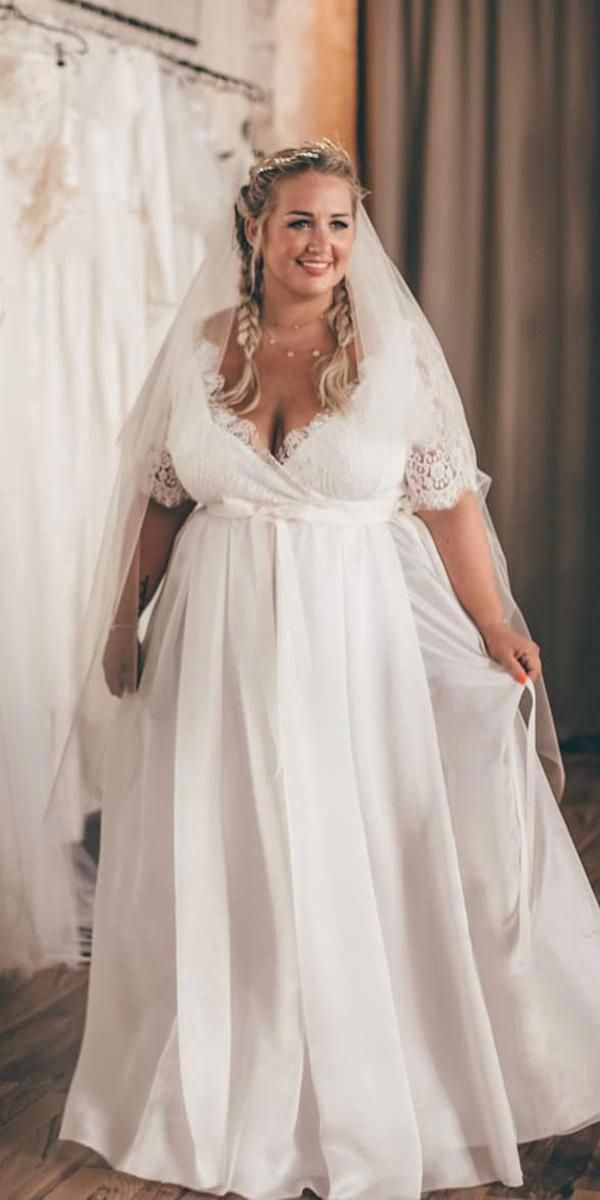 Plus Size Wedding Dresses A Line With Three Quote Sleeves Lace Top Ritual Plus Wedding Dresses Wedding Dresses Australia Plus Size Wedding Dresses With Sleeves