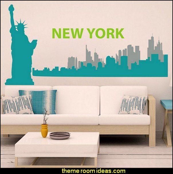 New York Wall Decal New York City Wall Sticker New York Skyline Wall Mural  Wall Part 49