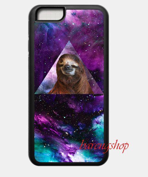 Custom Case Space Sloth Stars iPhone 6 Case