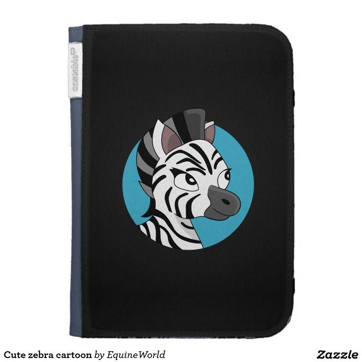 Cute zebra cartoon case for kindle