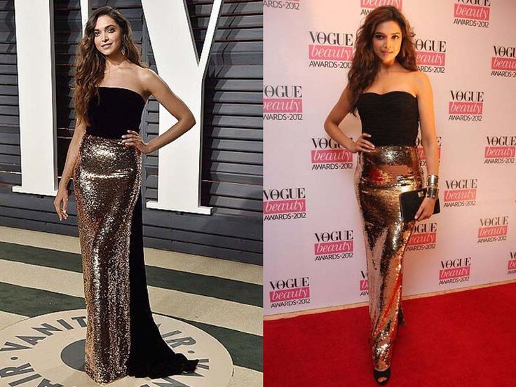 Deepika Padukone repeats her 2012 look for Oscars 2017 after-party | English Movie News - Times of India