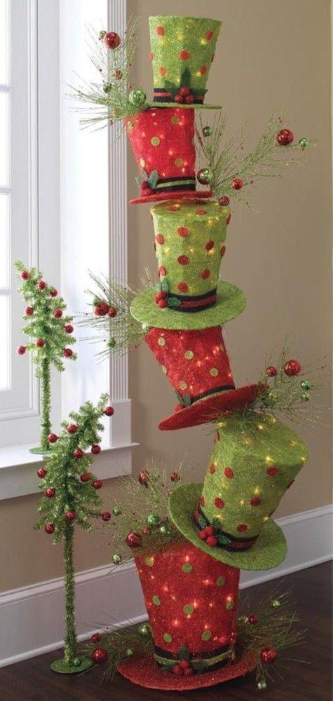 2013 Christmas bedding room decor, Christmas LED hat decor #2013 #felt #christmas #decorations www.loveitsomuch.com
