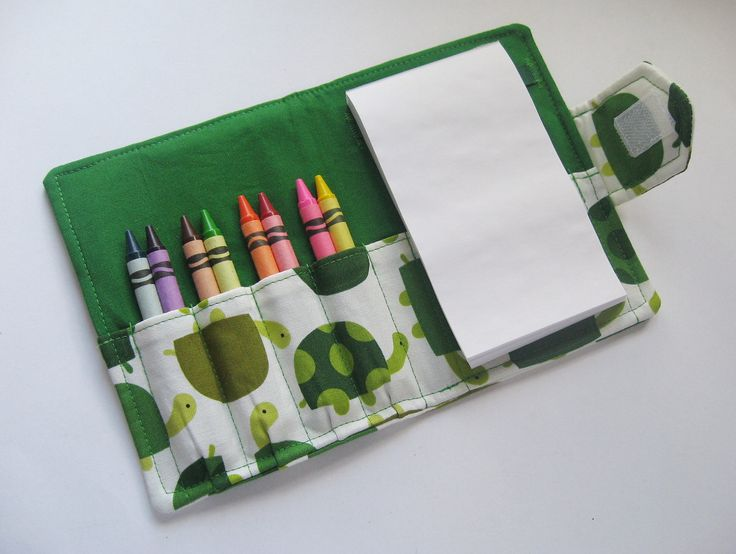 Crayon+Wallet++Turtles+by+MyHappyHobbies+on+Etsy,