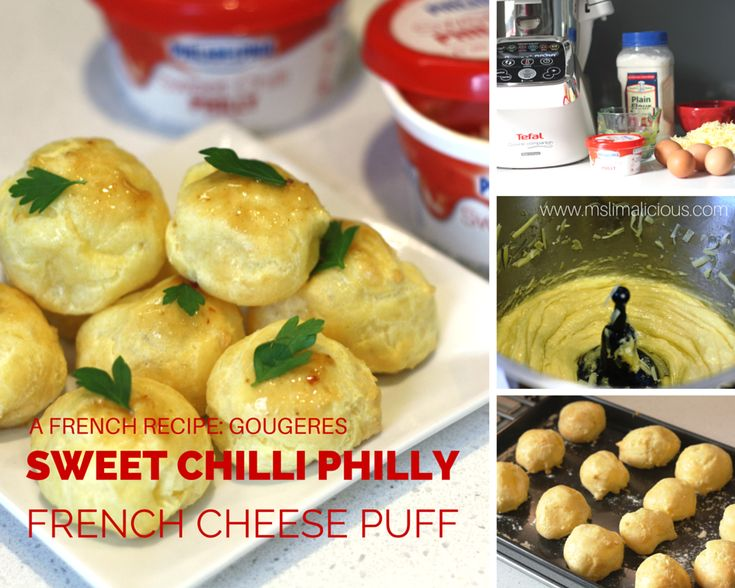 Sweet chilli gougere - cheese puff made with Cuisine Companion