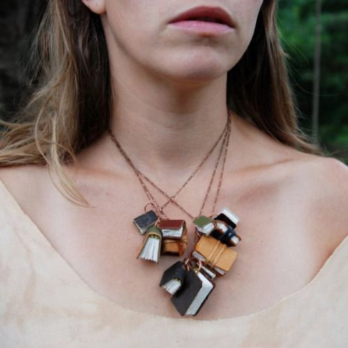 CULTURE N LIFESTYLE — Book Necklaces From Reclaimed Materials by Peg and...