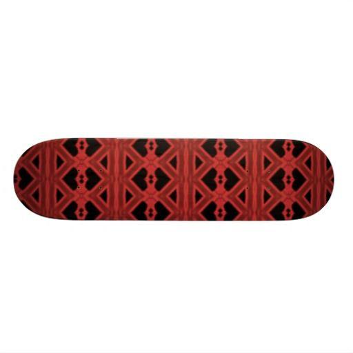Red black abstract pattern skate board decks