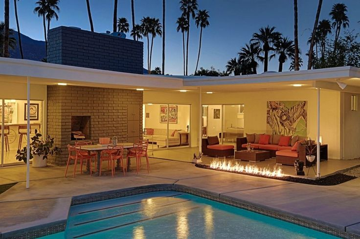 Swinging Palm Springs midcentury with pool and outdoor fire pit asks $998K - Curbedclockmenumore-arrow : An updated time capsule of sorts