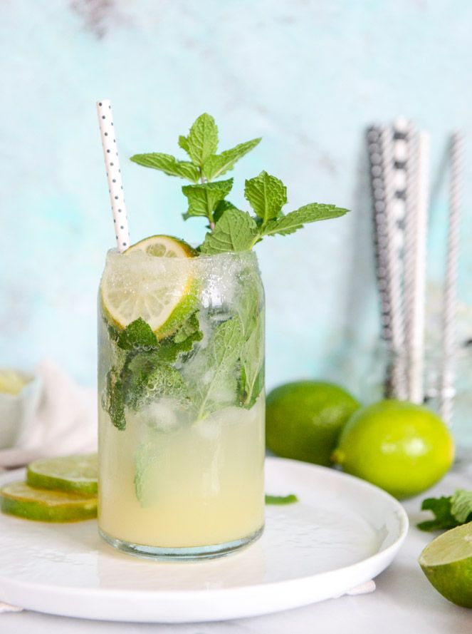 Mojito Margaritas combine two classic drink recipes into one incredible cocktail! Your girlfriends will love sharing a pitcher of this at your next taco or girls' night.