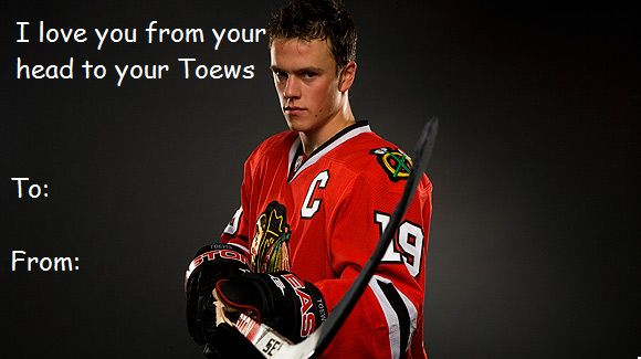 Hockey Valentines Day Card Jonathan Toewsof course this only – Hockey Valentines Day Cards
