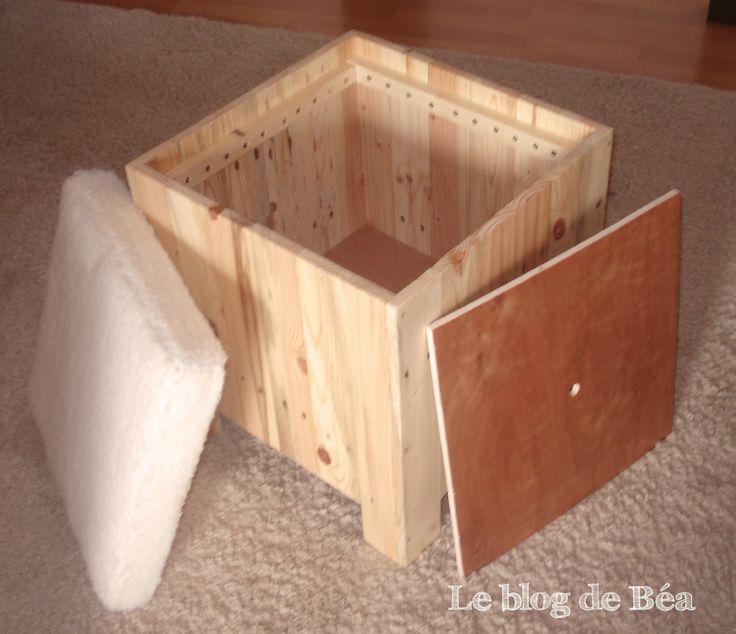 1000 id es sur le th me banc coffre sur pinterest banc - Fabriquer un tabouret en bois ...