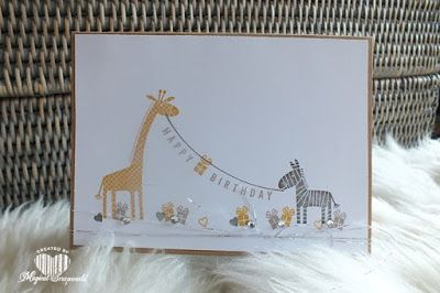 Magical Scrapworld: Happy Birthday Giraffe and zebra, any occasion, cards, sale-a-bration 2017, Stampin' Up!, zoo babies, occasions 2017