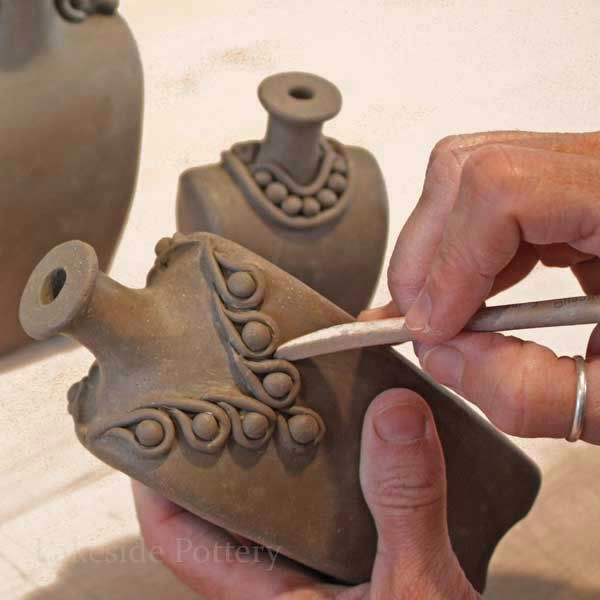 Small Bottles With Jewelry Handbuilding Pottery Projects Ideas And Pictures