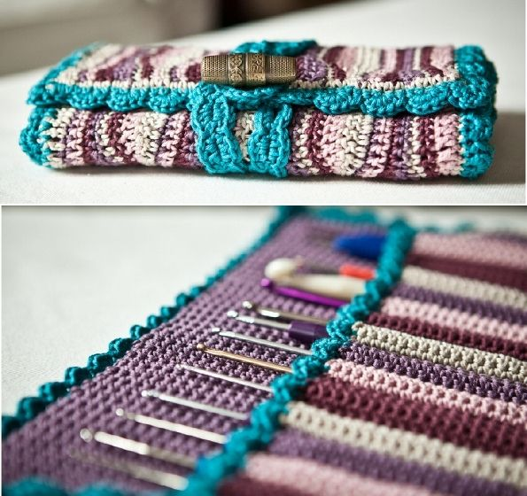 [Free Pattern] Gorgeous Crochet Hook Case You'll Fall In Love With