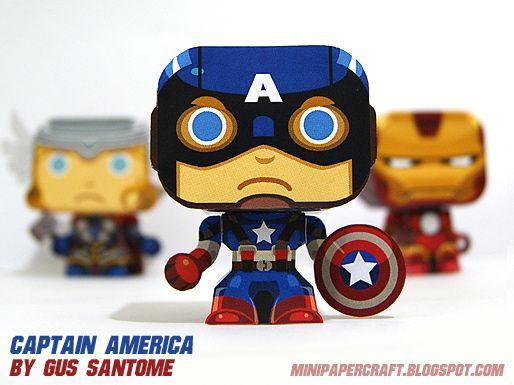 Captain America papercraft