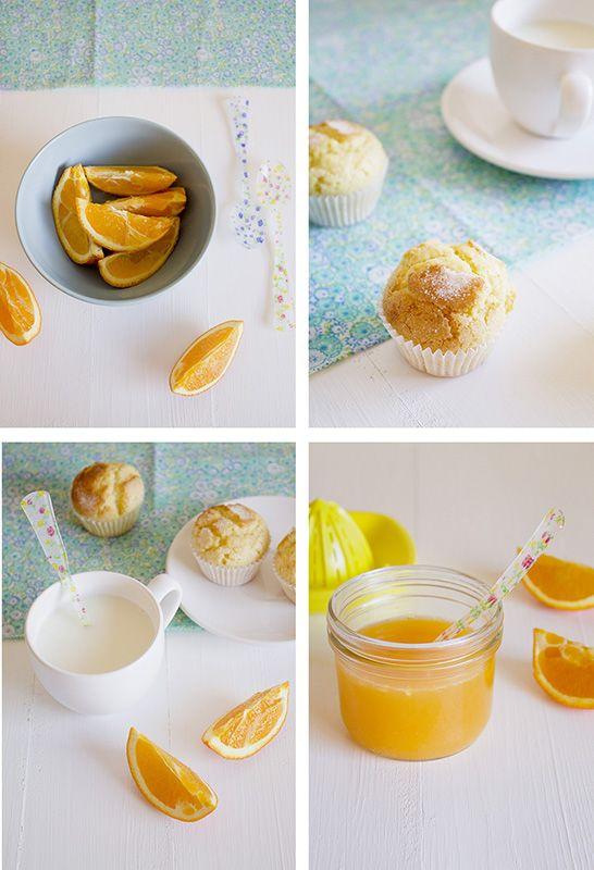 Cocinando sabores: Magdalenas de naranja