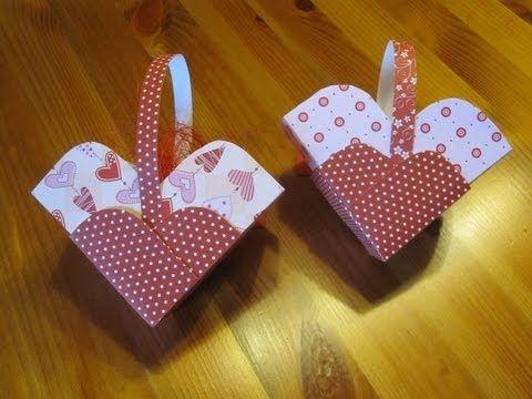 ▶ DIY Basteln zum Muttertag - Wie bastelt man eine Herz Schachtel - How to make a heart paper case - YouTube