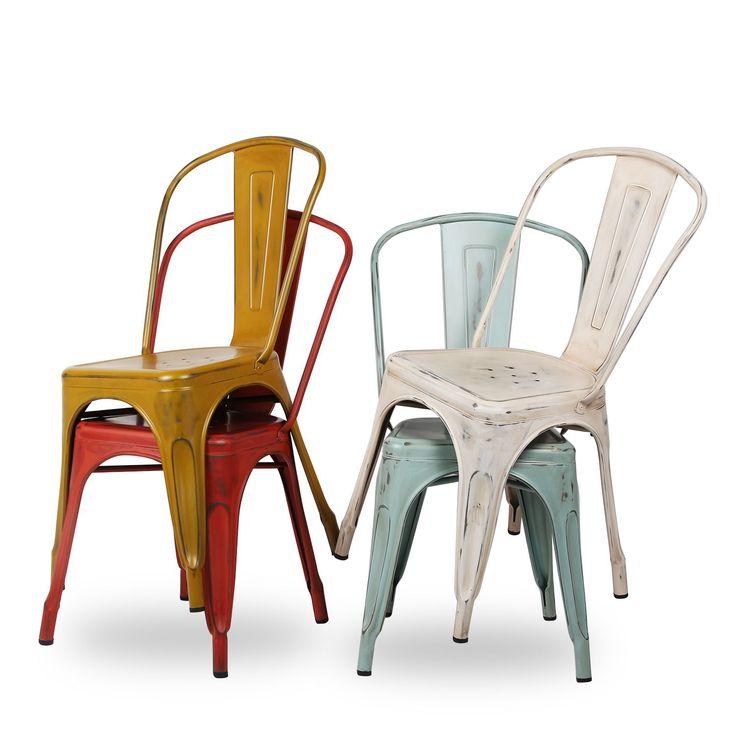 Silla TEREK METAL -Vintage Color Edition- (Sillas metálicas) - Tolix Vintage Sillas de diseño, mesas de diseño, muebles de diseño, Modern Classics, Contemporary Designs...