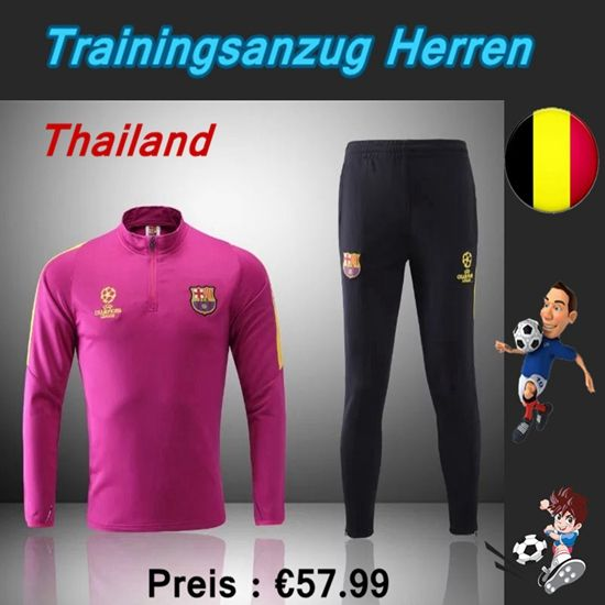 Offizielle Klassiker Trainingsanzüge Fussball Herren Kits FC Barcelona Rosa Schwarz Saison 2016 2017 Online Kaufen Kaufen
