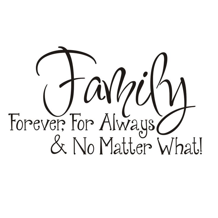 Vinyl Attraction 'Family; Forever, For Always & No Matter What' Vinyl Wall Art | Overstock™ Shopping - The Best Prices on Vinyl Wall Art