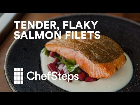 Tender, Flaky Salmon Filets with Sous Vide - YouTube