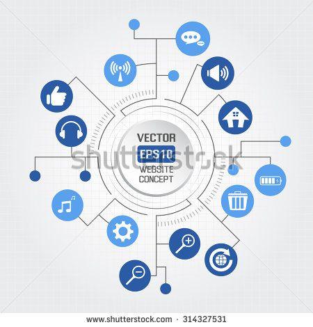 Big circle website concept