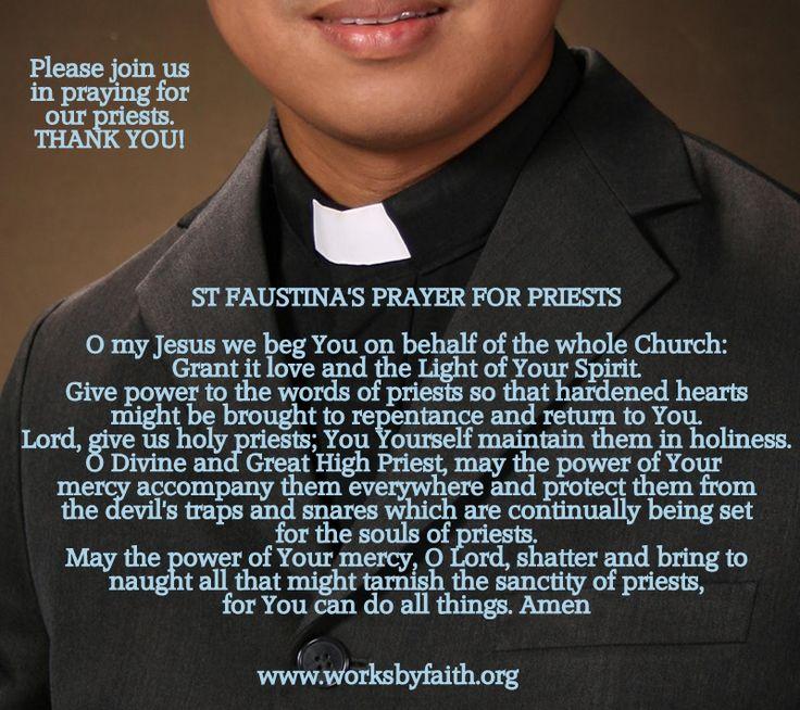 catholic photo: St Faustina's Prayer for Priests Untitled-1.jpg