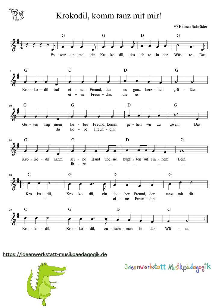 Kreisspiel und Lied: Krokodil, komm tanz´ mit mir! – Ideenwerkstatt Musikpädagogik