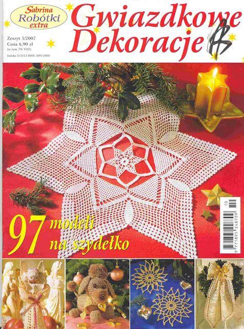 Xmas crochet - GWIAZDKOWE DEKORACJE - Rosana Mello - Picasa Web Albums #crochetmagazine