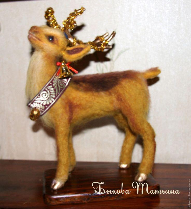 Купить Рождественский олень - оранжевый, олень, рождество, подарок на новый год…