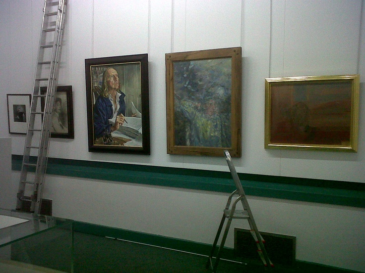Exhibition being installed!