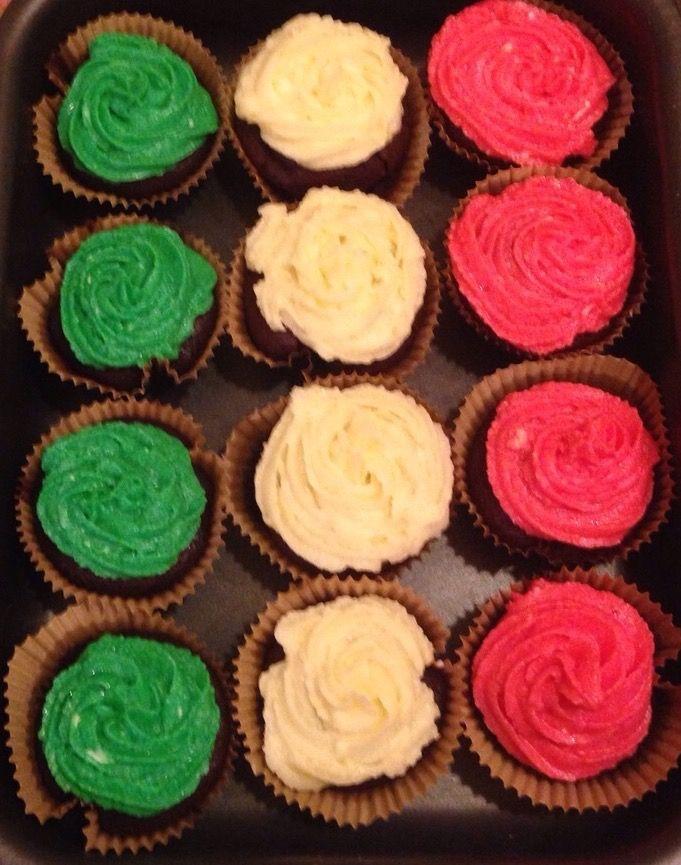 Cupcake italian flag