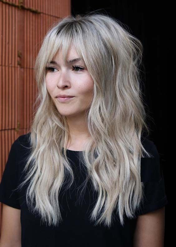Cutest Long Wavy Hairstyles With Bangs In 2018 Absurd Styles Long Hair With Bangs Haircuts For Long Hair Long Wavy Hair
