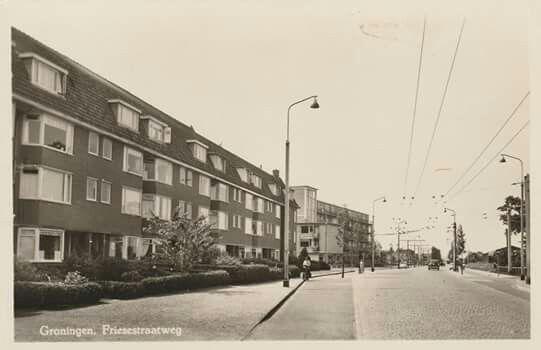 Friesestraatweg Groningen eind jaren 50