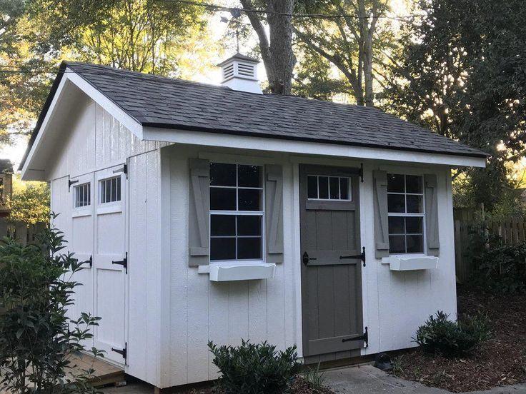 Riverside 10 Ft W X 12 Ft D Wood Storage Shed Shed Design Wood Storage Sheds Backyard Sheds