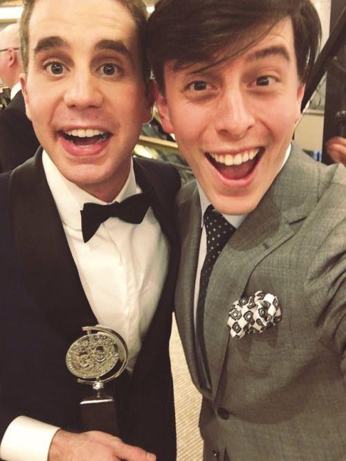 Ben Platt and Thomas Sanders at Tony Awards 2017
