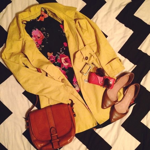 Mustard yellow trench coat from Jack by BB Dakota Great mustard yellow trench with gold finishes! Awesome condition. Jack by BB Dakota Jackets & Coats
