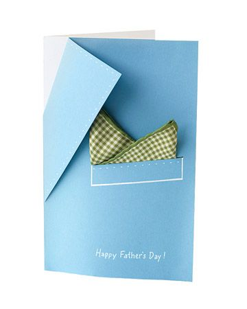 Pocket-Square Template Create a specially designed card for Dad featuring a jacket lapel and a pocket square. Print the Pocket-Square Template See More Father's Day Card Ideas How to Make the Pocket-Square Card