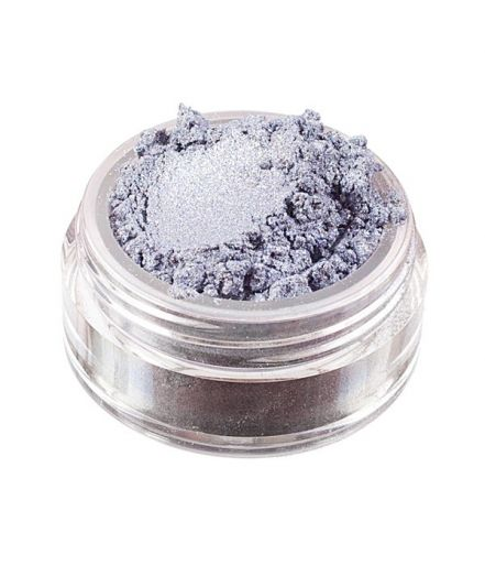 Collier mineral eyeshadow...  Silver with a pale grey base, blue satin sheen, and diamantine mineral glitter.  7,90 €