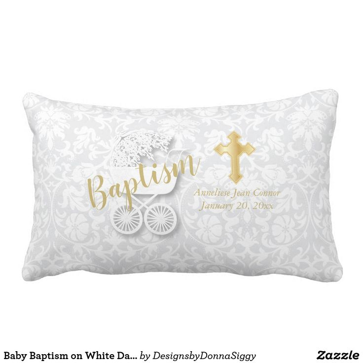 Baby Baptism on White Damask